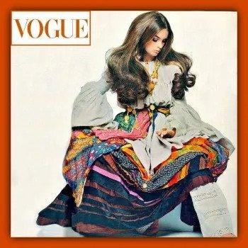 超级名模简·诗琳普顿身着 Giorgio di Sant'Angelo登上Vogue杂志